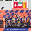 Podium after the race of Moto 2 Grand Prix of Catalunya — Stock Photo