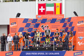 Podium after the race of Moto 2 Grand Prix of Catalunya — 图库照片