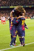 Goal celebration — Stock Photo