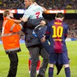 Stock Photo: Messi and spontaneous supporter