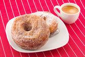 Cronuts and cofee — Stock Photo