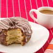 Stock Photo: Cronuts and cofee