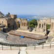 Taormina greek teather — Stock Photo