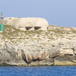 Stock Photo: Bunker in Lampedusa