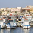 Harbor of Lampedusa — Stock Photo