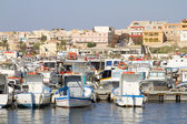 Harbor of Lampedusa — Foto Stock