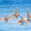Synchronized swimming — Stockfoto