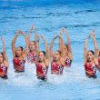 Synchronized swimming — Stock Photo