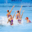 Stock Photo: Synchronized swimming