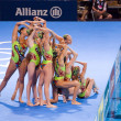 Synchronized swimming — Foto de Stock