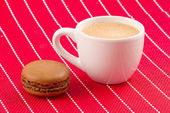 Macaron and coffee — Stock Photo