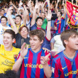 Stock Photo: FC Barcelona supporters