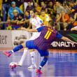 Futsal match FC Barcelona vs El Pozo — Stock Photo