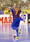 Futsal match FC Barcelona vs El Pozo — Stock Photo