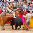 Bullfight in Barcelona — Stock Photo