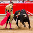 El Juli bullfighting in Barcelona — Stock Photo #30585389