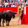 Manzanares bullfighting in Barcelona — Stock Photo