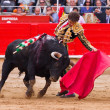 Jose Tomas bullfighting in Barcelona — Stock Photo