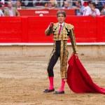 Jose Tomas bullfighting in Barcelona — Stock Photo #30589781