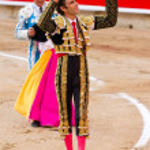 Jose Tomas bullfighting in Barcelona — Stock Photo #30589937