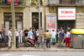 Queue for bullfight tickets — Stock Photo