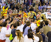 Last bullfight in Barcelona — Stock Photo