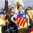 Catalans made 400 km independence humchain — Stock Photo #31225219