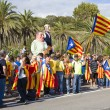 Catalans made a 400 km independence human chain — Stock Photo #31226381