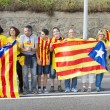 Catalans made a 400 km independence human chain — Stock Photo #31226761