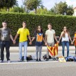 Catalans made a 400 km independence human chain — Stock Photo #31226941