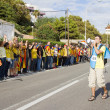 Catalans made a 400 km independence human chain — Stock Photo #31227097