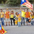 Catalans made a 400 km independence human chain — Stock Photo #31227215