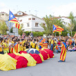 Catalans made 400 km independence humchain — Stock Photo #31227281