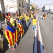 Catalans made a 400 km independence human chain — Stock Photo #31227523