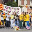 Catalans made 400 km independence humchain — Stock Photo #31227531