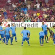 FC Barcelona warm-up — 图库照片