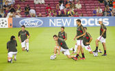 AC Milan warm-up — Stock Photo