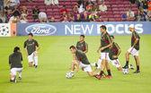 AC Milan warm-up — Stock Photo