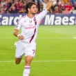 Alexandre Pato celebrating a goal — Stock Photo