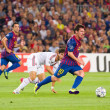 Lionel Messi in action — Stock fotografie