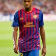 Eric Abidal in action — Stock Photo