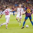 Eric Abidal in action — Stockfoto