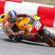Dani Pedrosa racing — Stock Photo