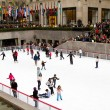 Stock Photo: Ice rink at Rockefeller Center