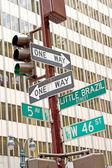 Знак движения Нью-Йорк — Стоковое фото