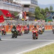 Moto GP starting grid — Stock Photo