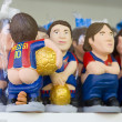 Caganers of Leo Messi at SantLluciFair, Barcelona — Stock Photo #36533463