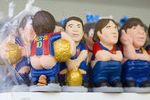 Caganers of Leo Messi at Santa Llucia Fair, Barcelona — Stock Photo