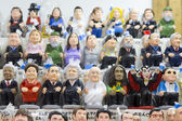Caganers at Santa Llucia Fair, Barcelona — Stock Photo