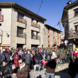 Fir tree fair in Espinelves, Spain — Photo